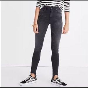 "Madewell 10"" High Rise Skinny Frayed Hem Jeans 27"